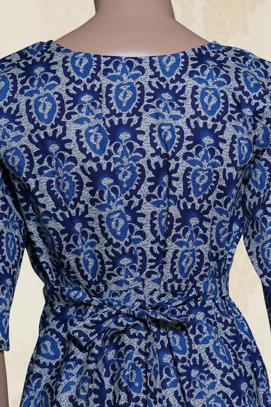ee787208f94e5 Aqua Batik Print Kurta